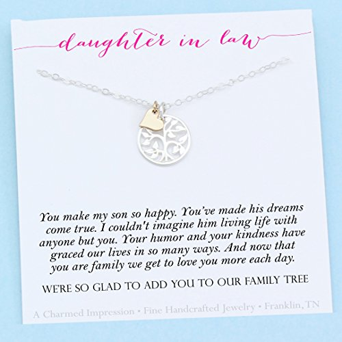Daughter-In-Law Gift • Welcome to our Family Tree • Sterling Silver • Personalized Jewelry -