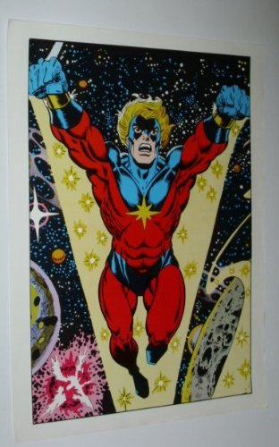 Amazon.com: 1970 de Capitán Marvel Cartel. Rare clásico ...