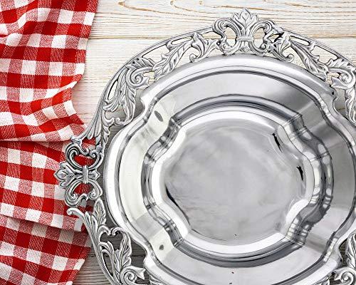 (Arthur Court Designs Aluminum Acanthus Serving Bowl 16.5