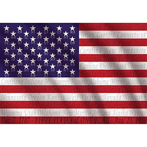 Name Flag Usa (Educa 1000 Piece American Flag Puzzle with State Names)