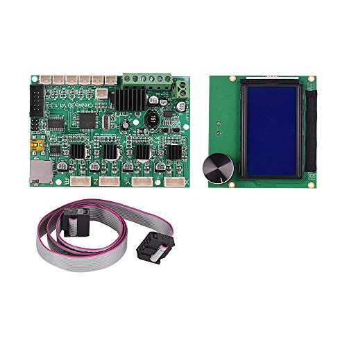 Aibecy Creality 3D Printer Mainboard Replacement Control Board Motherboard + LCD Display with Cable for Ender 3 Accessory