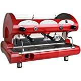 la Pavoni BAR-STAR 2V-R -  2-Group Commercial Espresso Cappuccino machine. Red