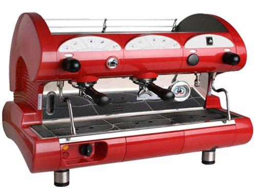 la Pavoni BAR-STAR 2V-R - 2-Group Commercial Espresso Cappuccino machine. Red by La Pavoni