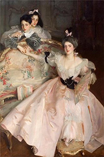 Best deals 'John Singer Sargent - Mrs Carl Meyer And Her Children,1896' Oil Painting, 8x12 Inch /
