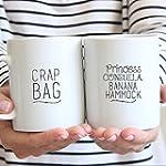 Funny Couples Mugs Dishwasher Safe Crap Bag Mug Couples Coffee Mugs Princess Consuela Mug His and Her Mug Set Engagement Mug Set Couple Mug Cofffee Mug
