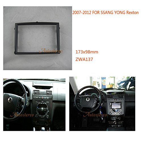 ZWNAV Car Stereo Fascia Dash CD Trim Installation Kit for SSANG YONG Rexton 2007-2012 Car Radio Stereo Facia Frame SSANG YONG Rexton Car Radio Installation Kit: