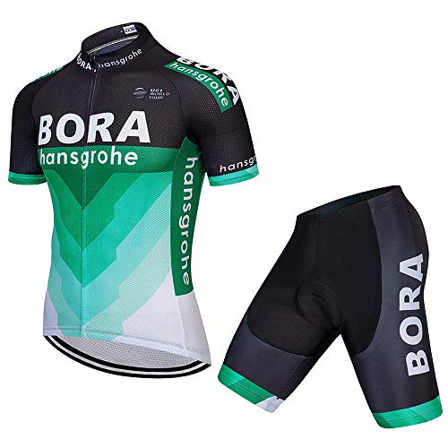 Men's Cycling Jersey Set Bike Jersey Bicycle Summer Breathability Short Sleeve Suit C54 (X, L)