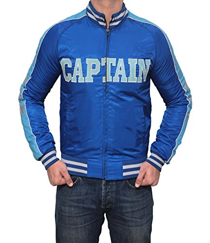 Captain Boomerang Suicide Squad Blue Bomber Jacket (Suicide Bombers Costume)
