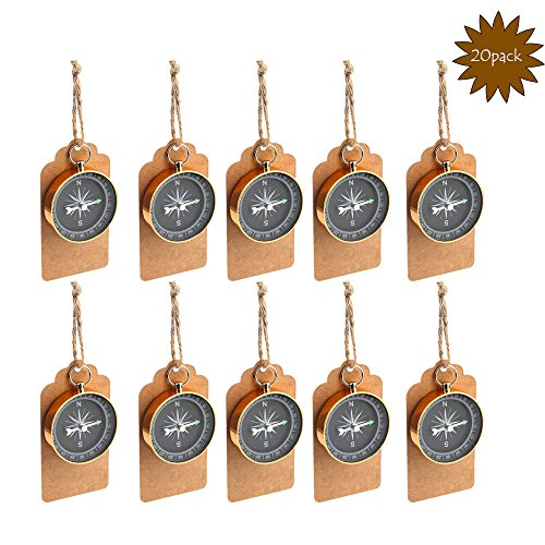 Aytai Travel Themed Party Favors for Guests,20pcs Compass Gifts + 20pcs Tags,Wedding Souvenirs Birthday Bridal Shower Anniversary Decoration Gift