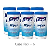 Beauty : PURELL Hand Sanitizing Wipes - Clean Refreshing Scent, Non-Alcohol Wipes, 40 Count Canisters - 6 pack (Packaging may vary)