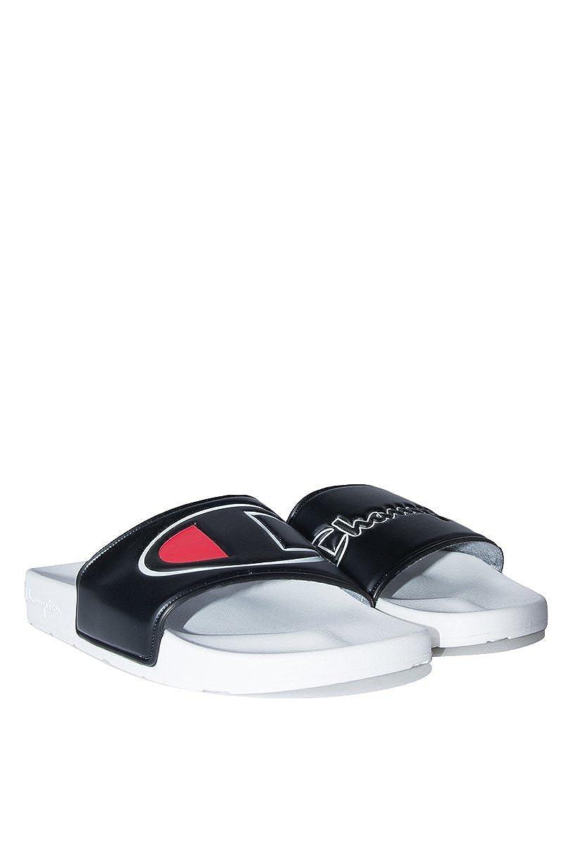 6aefbde1056 ... CHAMPION Champion Boys Kids Gs Ipo Script And Big C Logo Slide Sandal- WHITE BLACK 5 ...