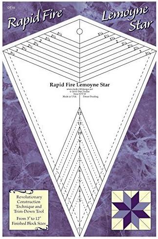 trim down tool for Lemoyne Star Units by Studio Designs Rapid Fire Lemoyne Star quilting tool
