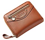 FEMAROLY Lady Handbag Purse Fashion Multi-Capacity Solid Color Women Wallet Card Holder Coin Pocket for Women and Girls Brown