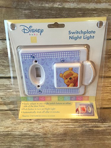 Pooh Switchplate (Disney Baby Winnie Pooh Switchplate Night Light)
