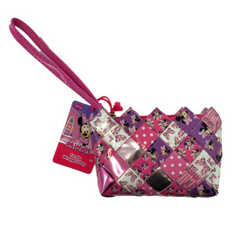 Minnie Mouse Candy Wrapper Hand Woven Wristlets for sale  Delivered anywhere in USA