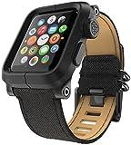 LUNATIK EPIK Polycarbonate Case and Canvas Strap for Apple Watch Series 1, Black/Black