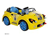 Minions Rocket Car Ride-On, 6V, Yellow/Blue/Black