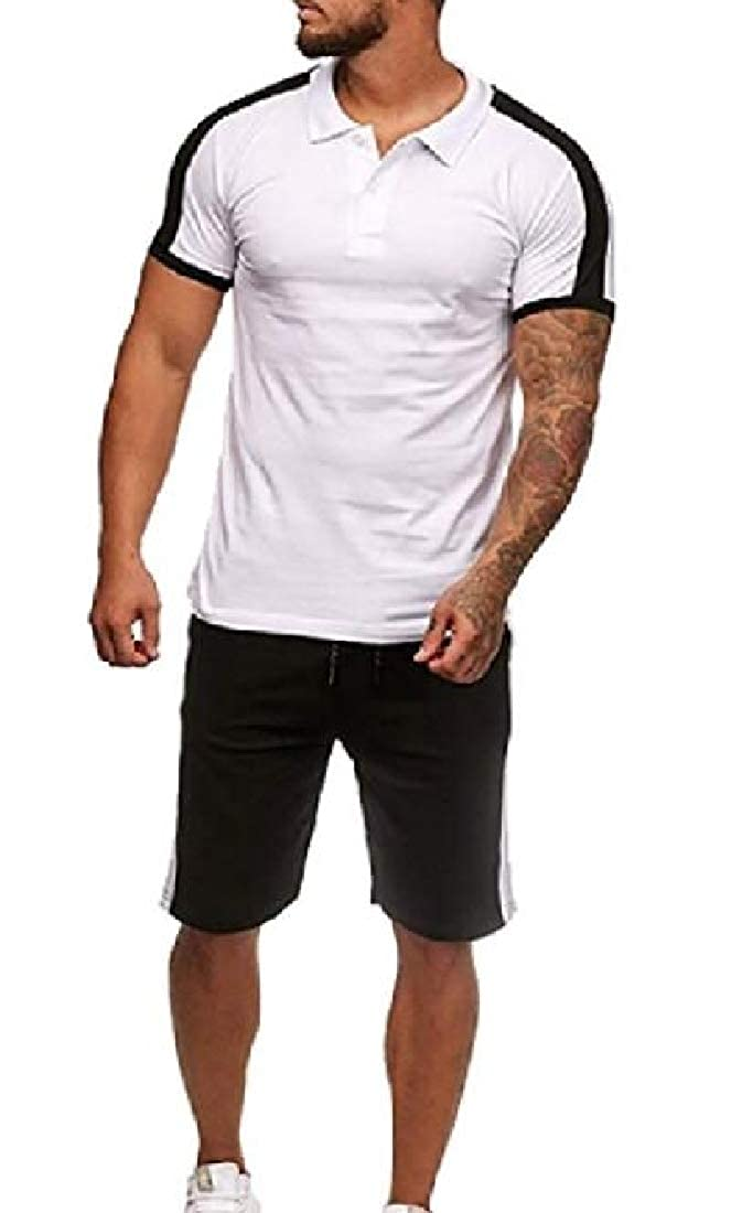 YYG Mens Two Pieces T-Shirts Athletic Short Sleeve and Shorts Sweatsuit Set