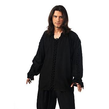 Camisa Negra Cordones L