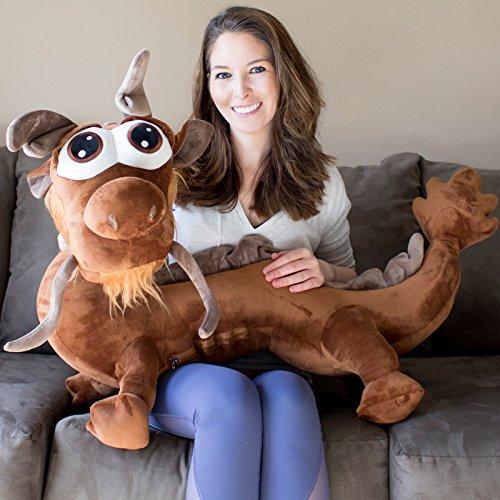 Yesbears Brown Giant Dragon Stuffed Animal (45inches Microfiber Body) ()