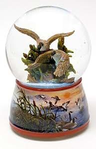 Calidad romano colección waterglobe agua Ave aves coleccionables regalos hogar oficina decoración de la cabina