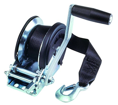Fulton T1500ZC0101  Single-Speed 1500 Lbs. Capacity Trailer Winch with 20-Foot Strap and Cover