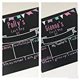 Personalized First and last day of School Chalkboard Sign- Pastel Colors