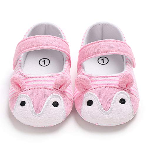 NUWFOR Infant Newborn Baby Girls Prewalker Cartoon Animal Ears Soft Sole Single Shoes(Pink,6~12 Month) by NUWFOR (Image #3)