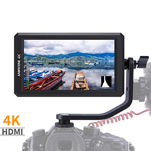 (ANDYCINE A6 5.7 Inch HDMI Field Monitor 1920x1080 DC 8V Power Output Swivel Arm for Sony,Nikon,Canon DSLR and Gimbals)