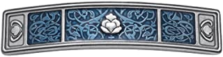 product image for DANFORTH - Tapestry/Cobalt Pewter Barrette - 3 1/2 inches - Handcrafted - Made in USA
