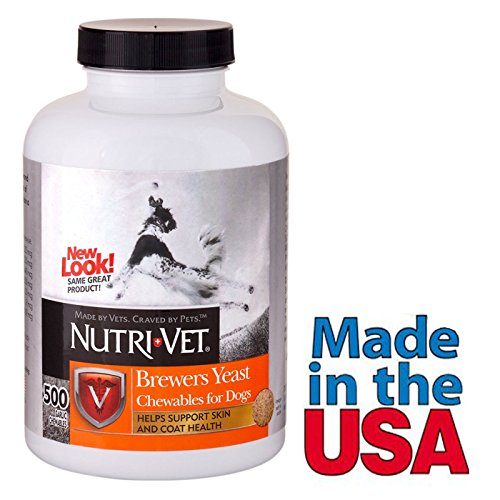 Brewers Yeast for Dogs Garlic Flavored Multivitamin 300 count Made in USA