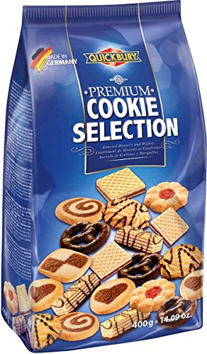 Quickbury Premium Assorted Cookie Selection, 14.1 (Gourmet Wafers)
