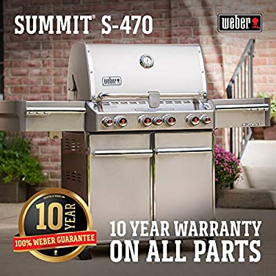Weber Summit 7170001 S-470 Stainless-Steel 580-Square-Inch 48,800-BTU Liquid-Propane Gas Grill