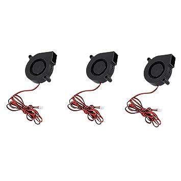 KESOTO 3Pcs Silent Radial Turbo Fan Fan DC Fan 24V para Piezas De Impresora 3D: Amazon.es: Electrónica