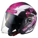 LS2 Helmets OF569 Open Face Helmet (Floral Pink, X-Large)