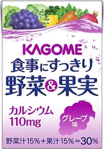 Kagome 100mlX36 this clean vegetables and fruit calcium grape flavor to the meal by Meal to clean vegetables & amp; fruit