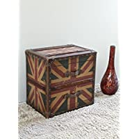 International Caravan 46B-12B813-IC Furniture Piece Two Drawer Union Jack End Table