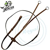 Racer Two Joint Flat Running Martingale./ European Cow Leather./ Stainless Steel Buckles.