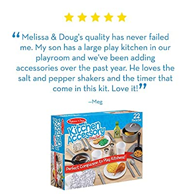 Melissa & Doug Kitchen Accessory Play Set: Toys & Games