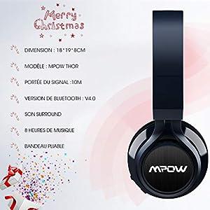 Mpow Casque Bluetooth Sans Fil Casque Audio Sans Fil Avec Micro