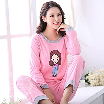 Blue Stones Autumn Striped Pyjamas Cotton Couple Pajamas Set Women Sleepwear Pajama Sets Pijamas Lover Pyjamas