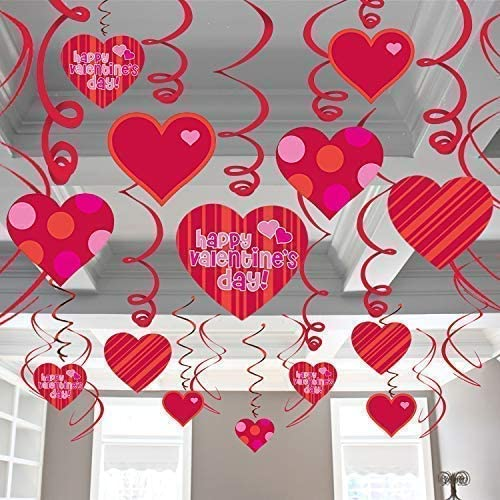 Happy Valentines Day Glitter Hanging Sign Valentines Day Decorations Vday