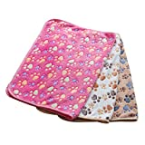 MAOMAO Dog Blanket Soft Pet Puppy Cat Cozy Sleeping Cushion Mat Washable Warm Bed Blankets Crate Pads for Small Animals Pack3A-XS