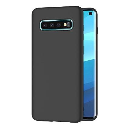 AICEK Funda Samsung Galaxy S10, Negro Silicona Fundas para Samsung S10 Carcasa Galaxy S10 Negro Silicona Funda Case