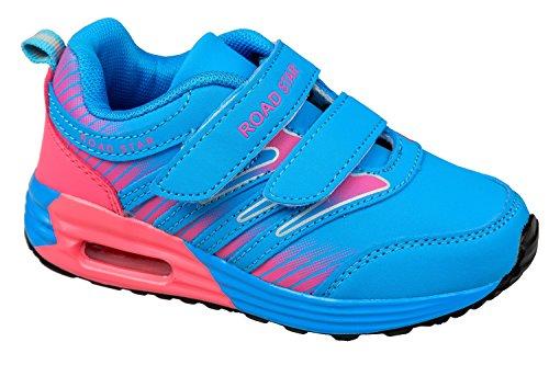 gibra - Zapatillas de Material Sintético para niña Azul - azul y rosa