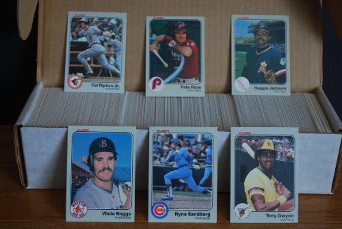 1983 Fleer Complete Baseball Set (660 Cards) (Ryne Sandberg Rookie) (Wade Boggs Rooke) (Tony Gwynn Rookie) (Cal Ripken Jr.) (Pete Rose) (Mike Schmidt) (Carl Yastrzemski) (George Brett) (Robin Yount) (Dave Parker) (Steve Garvey) (Andre Dawson)