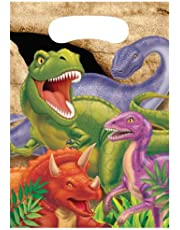 Creative Converting Dino Blast 8 Count Party Favor Loot Bags (1290820) - 085012