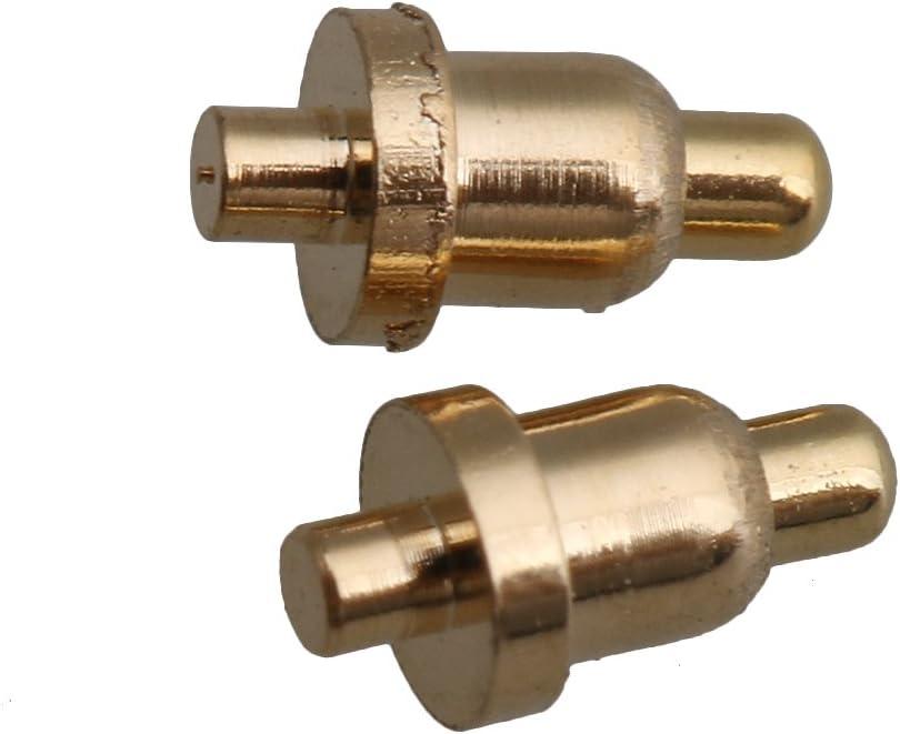 Yibuy 100/pcs 2/mm de diam/ètre 4/mm de Hauteur en cuivre Courant en cuivre Pogo pins Sonde Dor/é