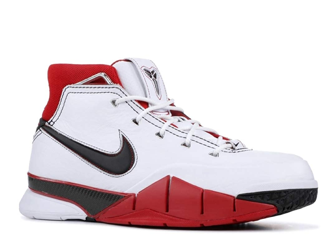 MultiFarbe (Weiß schwarz Varsity rot 102) Nike Kobe 1 Protro, Hausschuhe de Deporte para Hombre
