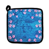 Gear New Abstract Wood & Sakura Pattern with Watercolor Pot Holder